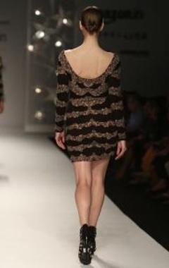 Black & nude motif dress