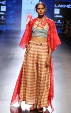 Swati Vijaivargie Pink & red floral shibori jacket