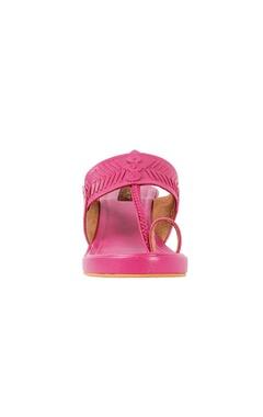 Pink kolhapuri wedges