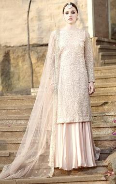 blush pink sequin embroidered lehenga set