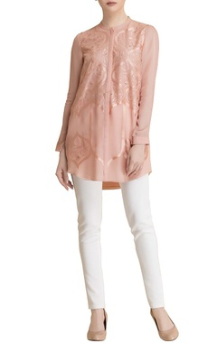 old rose button down shirt