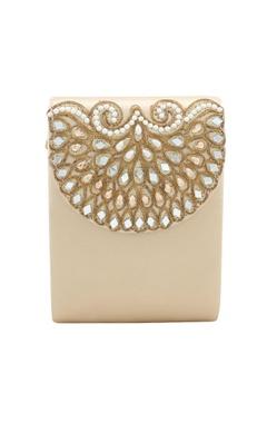 Rossoyuki light gold japanese beadwork clutch