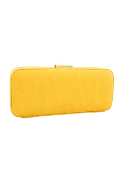 Yellow japanese beadwork box clutch
