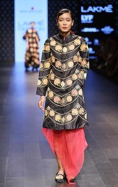 Black & maroon dress jacket