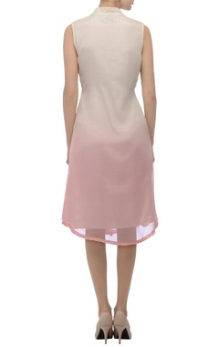 Off-white & pink printed dress