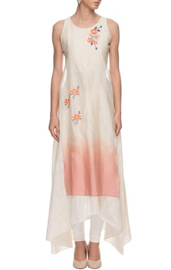 pastel pink embroidered kurta