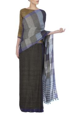 Blue handwoven neela sari