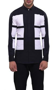Black & white printed shirt