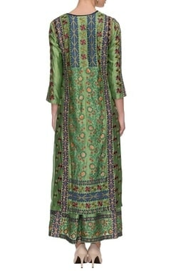 Pista green chakri printed kurta set