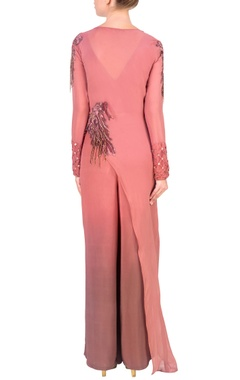 Onion pink asymmetric tunic with palazzo pants