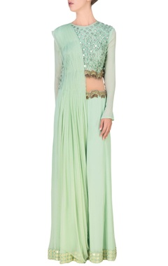 Mint embellished cutout jumpsuit