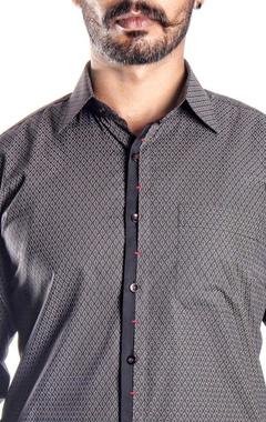 Black & red tribal printed shirt
