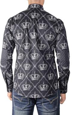 Black crown printed shirt