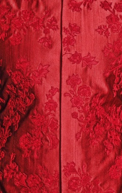red silk floral embroidered bandi