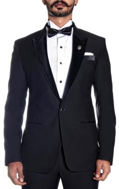 black lapel tuxedo