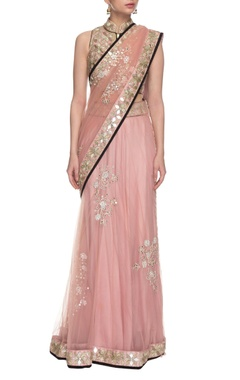 powder pink mirror embellished lehenga set