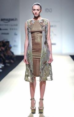 Golden textured dress