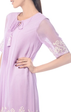 Lavender embroidered tunic