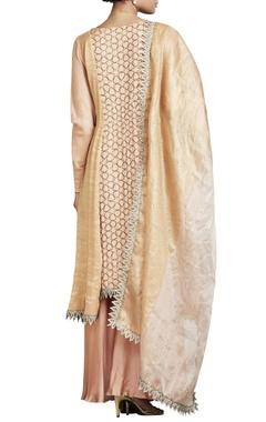 Blush pink & gold sequin embroidered kurta set