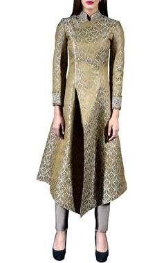 golden brocade jacket & pant set