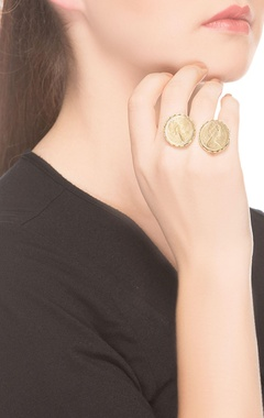 Gold coin rings