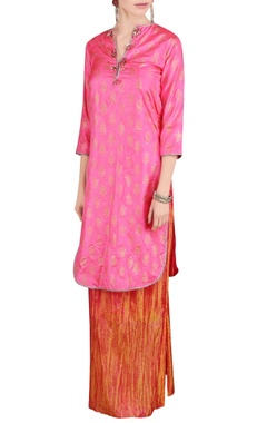 pink & orange kurta and palazzos
