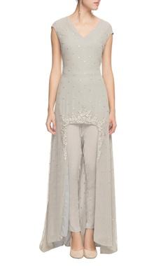 Sage ice kurta gown and pant set
