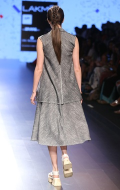 Grey khadi collared jacket