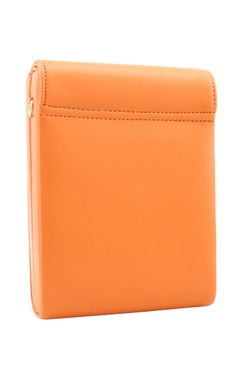 orange bead & mirror work  box clutch