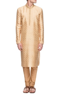 Gold embellished kurta set