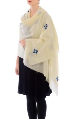 off-white resham work cashmere stole