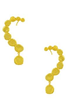 Mine Of Design Gold plated beaten ear cuffs