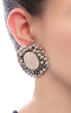 Silver plated tops with vintage coin & ghungroos