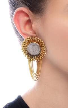 Gold plated earrings with layered tassels