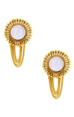 Mine Of Design Gold plated earrings with layered tassels