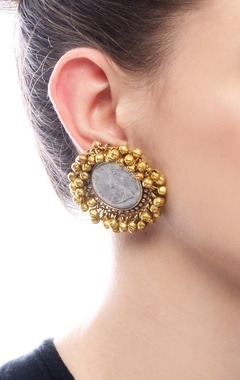 Gold plated tops with vintage coin & ghungroos