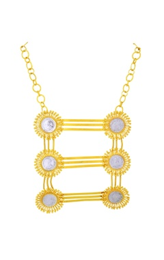 Mine Of Design Gold plated layered statement necklace