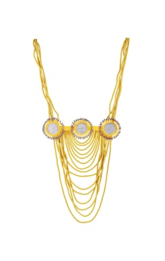 Mine Of Design Gold plated statement necklace with vintage coins