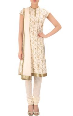 Ivory & gold  kurta set