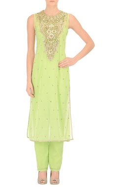 Pistachio green jumpsuit and kurta