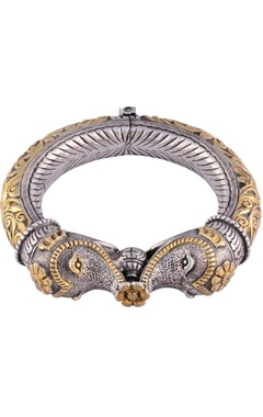 Sangeeta Boochra Antique silver & gold elephant cuff
