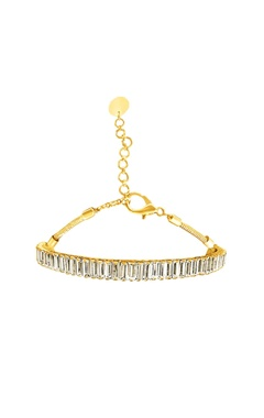 Gold plated choker with Swarovski crystals