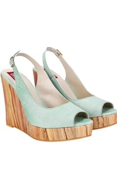 Victorian blue wood wedges