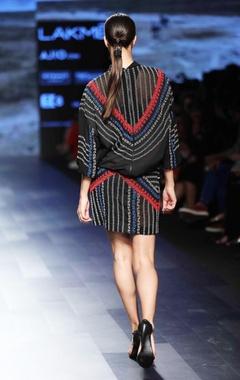 black beaded mini skirt