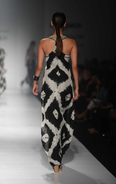 Black & white safari cocktail dress