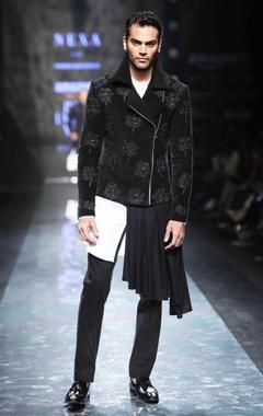 black velvet embroidered jacket