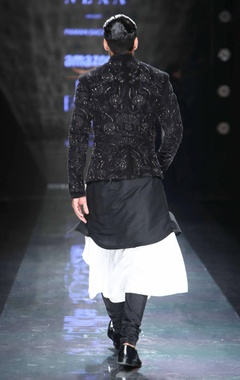 black kurta shirt