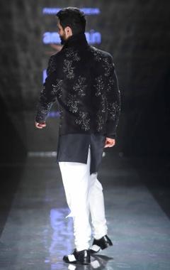 black asymmetric shirt