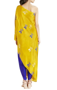Blue relaxed fit dhoti pants