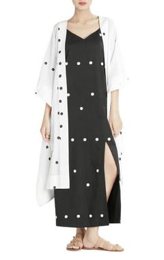black polka dotted dress